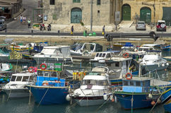 Malta - Gozo, Mgarr. A view of of Mgarr on the island of Gozo, the main harbour and the point of arrival for ferries from mainland of Malta Stock Photo