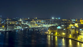 Malta - Panorama of Three Cities Royalty Free Stock Photo