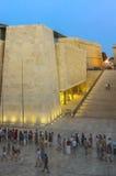Malta at dusk - Valletta. Night view of the new Parliament building - Valletta, Malta Stock Photos