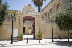 Malta vilhena palace mdina. Malta mdina vilhena palace national museum of history rbat entry Stock Photo