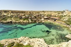 Malta, the village of Popeye.  Royalty Free Stock Photography