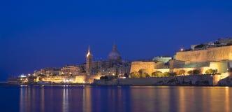 Malta, vistas de La Valeta Fotos de archivo