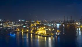 Malta, vistas de tres ciudades Foto de archivo libre de regalías