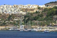 Malta, viste di Gozo Fotografie Stock Libere da Diritti