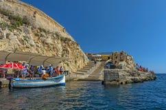 Malta - widoki Wied iÅ ¼ - Å' urrieq Zdjęcie Royalty Free
