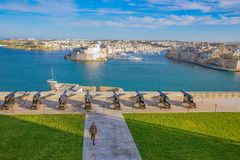 Malta wyspa, historia i natura, fotografia royalty free