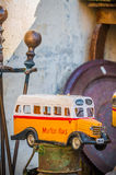 Malta's colourful buses in Gozo. Stock Image