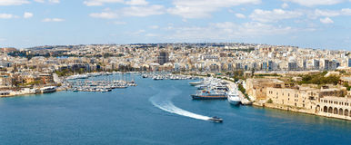 Malta yacht marina panorama Royalty Free Stock Photography