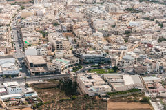 Malta - Zebbug city, Triq L-Imdina. Malta - countryside from aircraft, fields and meadows, Zebbug city - Triq L-Imdina Stock Photo