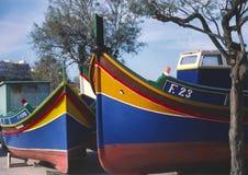 Maltas Boats Stock Photo