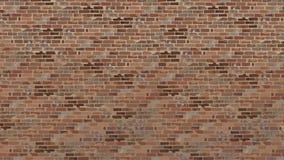 Malte eine große Backsteinmauer von alten Ziegelsteinbraunschatten vektor abbildung