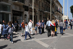 Malte, la ville pittoresque de La Valette Photographie stock