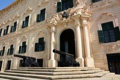 Malte, los angeles Valette, Auberge De Castille Fotografia Stock