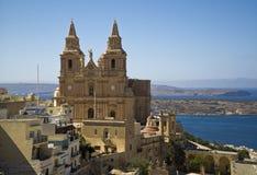 Malte Mellieha, église de la nativité de Vierge Marie photo libre de droits