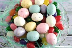 Malted Milk Eggs and Jelly Beans Stock Image