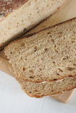 Malted wholemeal loaf. Freshly baked home made malted wholemeal bread Royalty Free Stock Photography