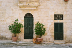 Maltees huis in Mdina Royalty-vrije Stock Foto's