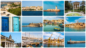 Maltese architectural details and sights Stock Image