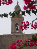 Maltese architecture. Decorative belltower in malta Royalty Free Stock Photo