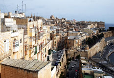 Maltese architecture. The historic city of la valletta on malta island Royalty Free Stock Photo