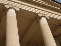 Maltese architecture. Looking up at columns Royalty Free Stock Photo
