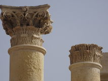 Maltese architecture. Tops of columns Stock Photos