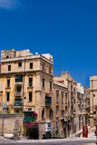 Maltese Architecture in Valletta, Malta. Royalty Free Stock Photo