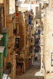 Maltese architecture in Valletta, Malta Royalty Free Stock Images