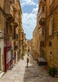 Maltese architecture in Valletta, Malta Stock Photography