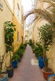 Maltese architecture in Valletta, Malta Royalty Free Stock Photos