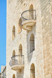 Maltese balconies, Birgu. The view of Maltese style balconies in Birgu. Malta Stock Images