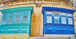 The Maltese balconies of Rabat, Malta royalty free stock photos
