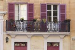 Maltese balconies. Traditional Balconies in Mdina, Malta Royalty Free Stock Photo