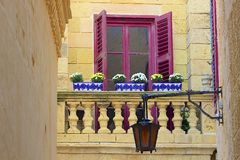 Maltese balconies Stock Images