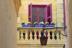Maltese balconies. Traditional Balconies in Mdina, Malta Stock Images