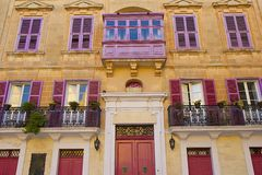 Maltese balconies Royalty Free Stock Photo