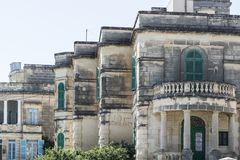 Maltese balcony and entrance Royalty Free Stock Images