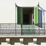 Maltese balcony in Valletta Stock Photography