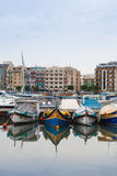 Maltese boats. In the marina near Gzira, Malta Royalty Free Stock Photography
