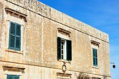 Maltese building, Mdina. Traditional Maltese building in Bastion Square, Mdina, Malta, Europe Royalty Free Stock Photos