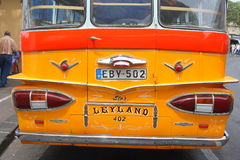 Back end of bus. The back end of an old Maltese Leyland bus on the island of Malta Royalty Free Stock Images
