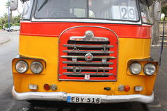 Front of vintage bus Royalty Free Stock Photography