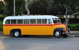 Maltese Bus - Valetta Malta. Old Bus in the streets of Valetta, Malta Royalty Free Stock Photo