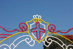 Maltese Christian Cross decoration. Decorative Christian cross on the street of Malta Stock Photography