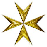 Maltese christianity cross gold symbol