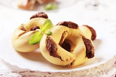 Maltese Christmas Dessert. Semolina, candied citrus peel and treacle filled pastry rings Stock Images