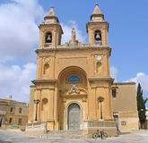 Maltese Church. And bicycle near it Stock Photography