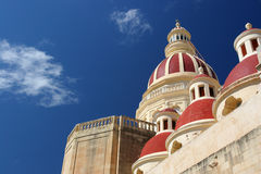 Maltese church. The spires of a church on Malta Royalty Free Stock Photos
