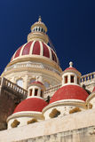 Maltese church. The spires of a church on Malta Royalty Free Stock Image