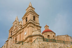 Maltese Church. Church at Mellieha village on Malta Royalty Free Stock Photo